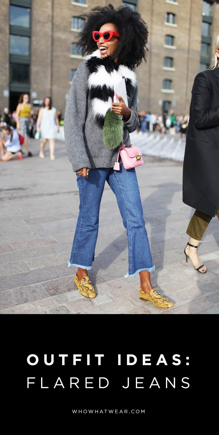 Endless outfit ideas for wearing your flared jeans