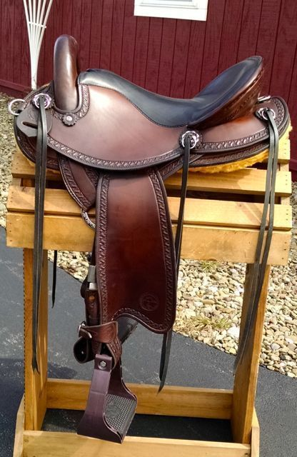"Renegade endurance saddle by Allegany Mountain Trail Saddles!  16"" seat, Semi QH #AlleganyMountainTrailSaddles"