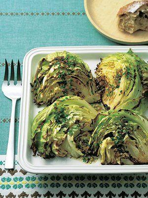 【ELLE a table】キャベツのグリルサラダ アンチョビソースレシピ|エル・オンライン