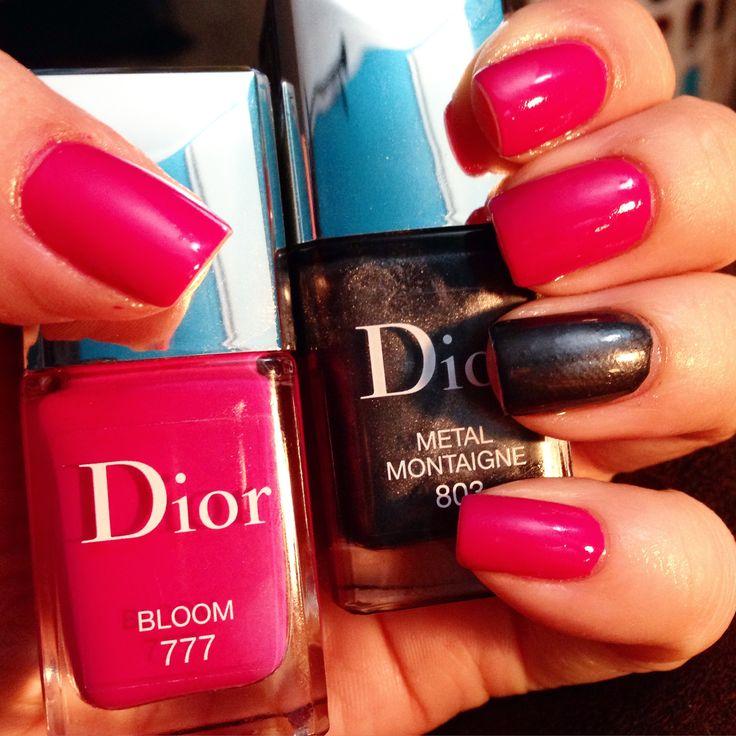 "Nails - Dior ""metal"" & ""bloom"""