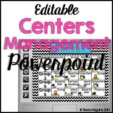 Use Powepoint to display your centers rotations.