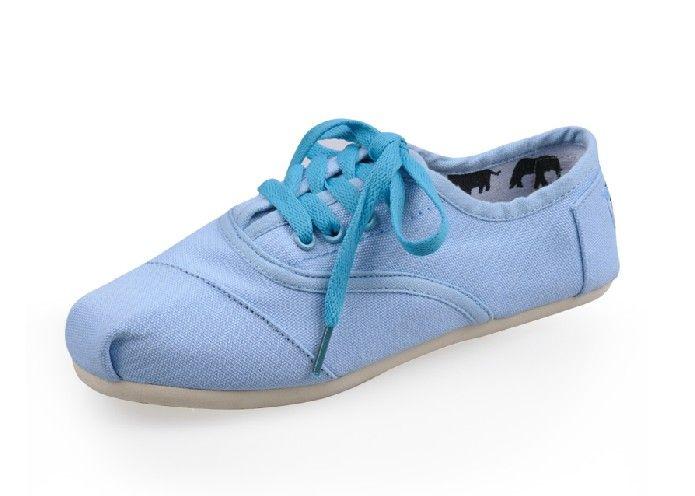 Lace-up Blue classic Cheap Toms couples shoes