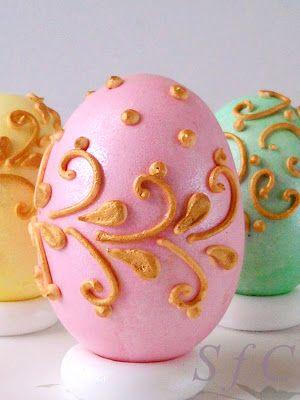 Πασχαλινά αυγά σε πάλ χρώματα και Royal icing