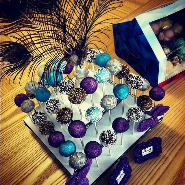 Gorgeous cake pops and display.. Love this!
