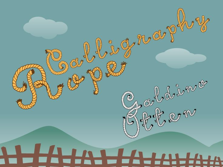 Calligraphy Rope Font · 1001 Fonts