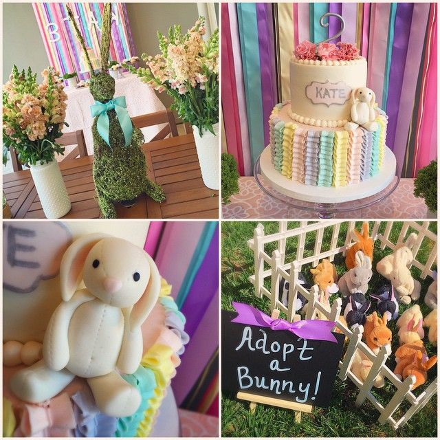 Here are a few more details from today's Bunny Themed 2nd Birthday party! My favorite part? The bunny adoption station! All of the kids were able to pick out a (stuffed) bunny, name it, and take it home with them. They were the perfect favors for the kiddos and they loved them!