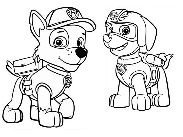 Disegni Da Colorare Paw Patrol Zuma.Idea By Ashley Boyd On Painting In 2020 Coloring Pages Paw