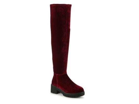 Women's Coolway Bombi Over The Knee Boot - Burgundy