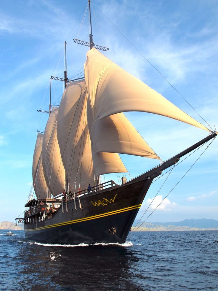 phinisi is a traditional Indonesian two-masted sailing ship . Alila Purnama, translated as The Full Moon, is one of the most luxurious liveaboard Phinisi ships in Asia, providing ultra-modern and relaxing accommodation for up to ten guests.Handcrafted in the traditional style of a Phinisi, as used by the Bugis seafarers from south Sulawesi in Indonesia, the 46-metre-long Alila Purnama consists of three decks.