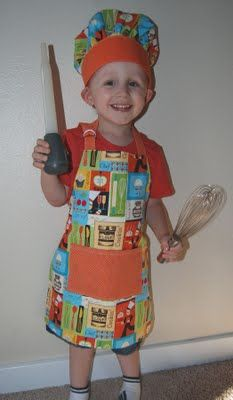 Nap Time Crafts: Toddler Apron and Chef Hat tutorial - woul be so cute in Babyville Boutique #sewing #kids