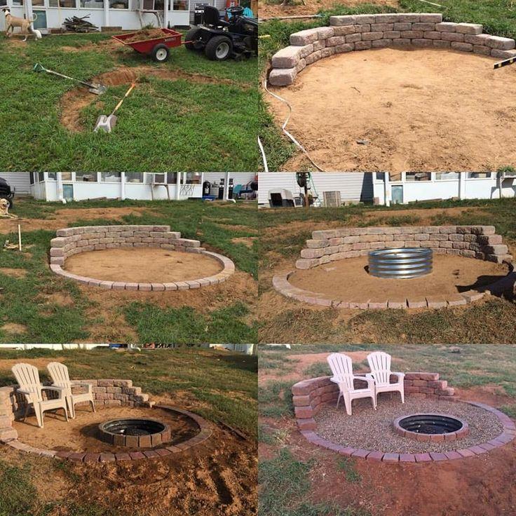 Backyard Fire Pit Landscaping Ideas: 25+ Best Ideas About Sloped Backyard On Pinterest