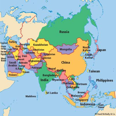 78 ideas about Asia Map on Pinterest Map of asia East asia map and New delhi