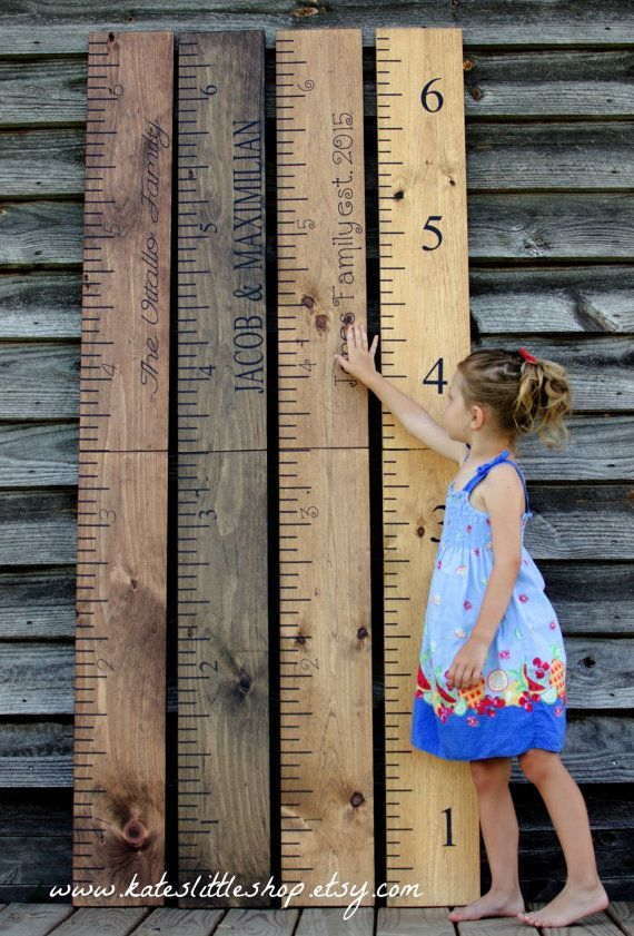 """Today we featured Kate's Little Shop on our blog. This Etsy shop has amazing reviews and sells all sorts of awesome handmade stuff like these giant rulers for tracking your children's growth! Use coupon code """"DLAWLESS5"""" for 5% off your purchase!"""