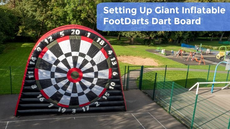 Setting Up Giant Inflatable FootDarts Dart Board