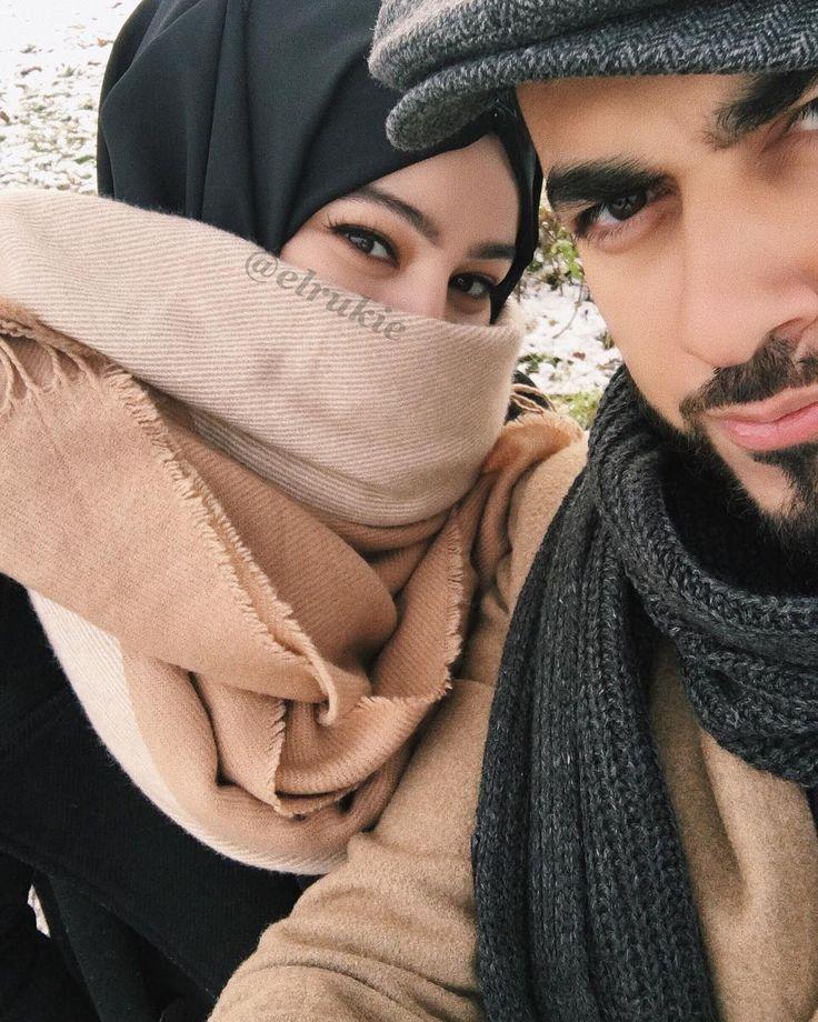 Картинка муж и жена в хиджабе