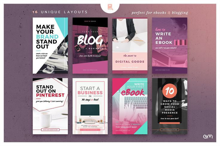 Ebook Cover / Blog Post Graphics - Web Elements - Easy to edit Templates - FREE Images Included.