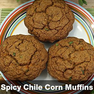 """Green Chile Corn Muffins (vegan, dairy and gluten free) with lime chili cashew butter  More info at vegetarianrecipes.hotforyoga.tv and downLoad the free recipes by """"Hot In The Kitchen""""  at the Apple App Store. Available Nov 1 2014"""