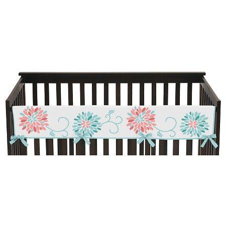 Sweet Jojo Designs Emma Long Crib Rail Guard Cover - Coral : Target