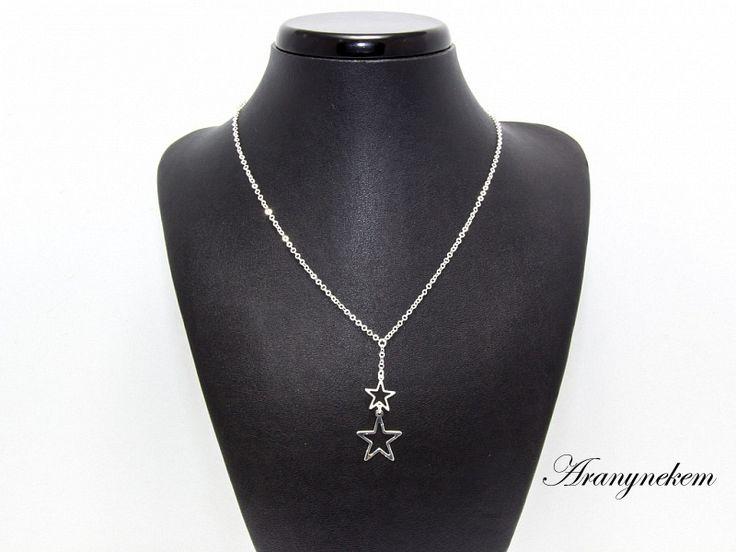 Csillag motívumos ezüst anker Y nyaklánc