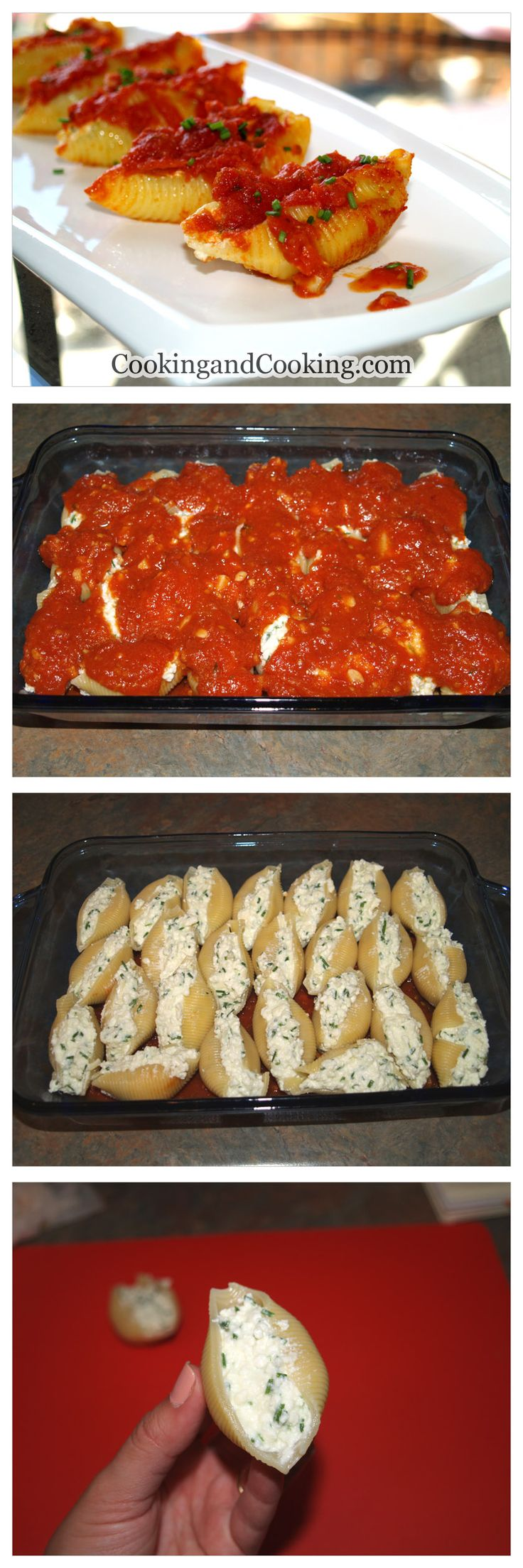 Ricotta Stuffed Shells Recipe - I'm going the easy way out and using pre-made sauce! But I found my dinner!