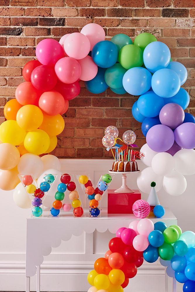 Luxury Rainbow Balloon Arch 78 best DIY