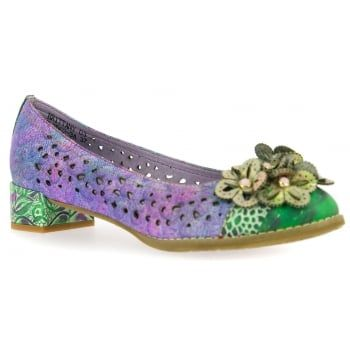 New in from quirky brand Laura Vita are these ladies Brittany pumps in Violet. Dare to be different in these bold handcrafted shoes made from natural leather which boast comfortable padding and a flexible sole. These brilliantly detailed shoes are sure to make you stand out this summer and they're perfect if you're looking for a dressy holiday look. http://www.marshallshoes.co.uk/womens-c2/laura-vita-womens-brittany-03-violet-punch-detail-heeled-pump-shoes-p4714