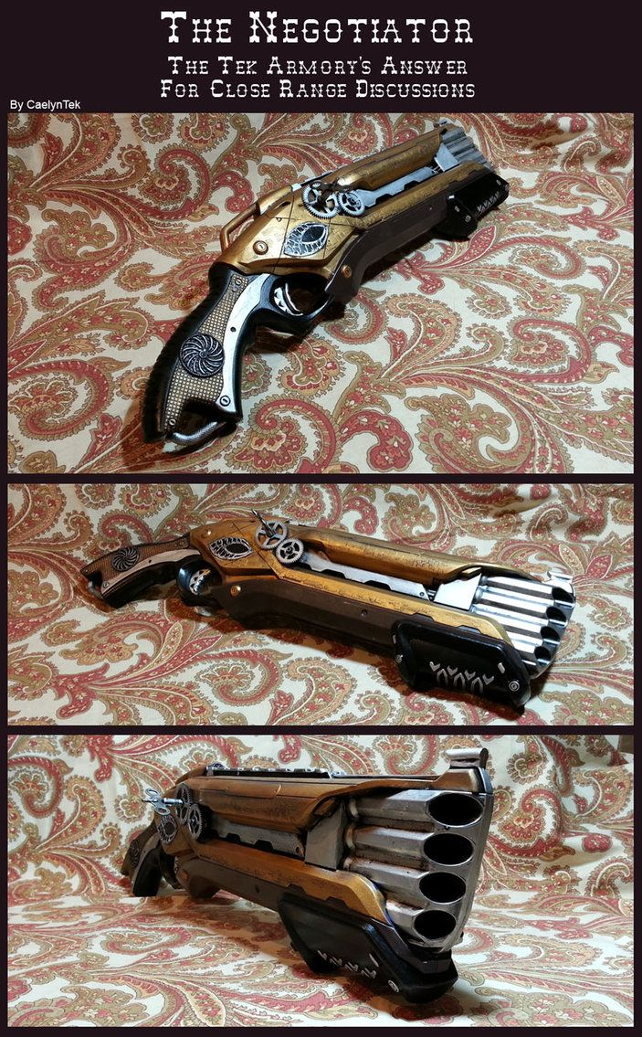 a gun with four holes where they shoot four bullets or whatever, drenched in the poison that can kill empyreans...