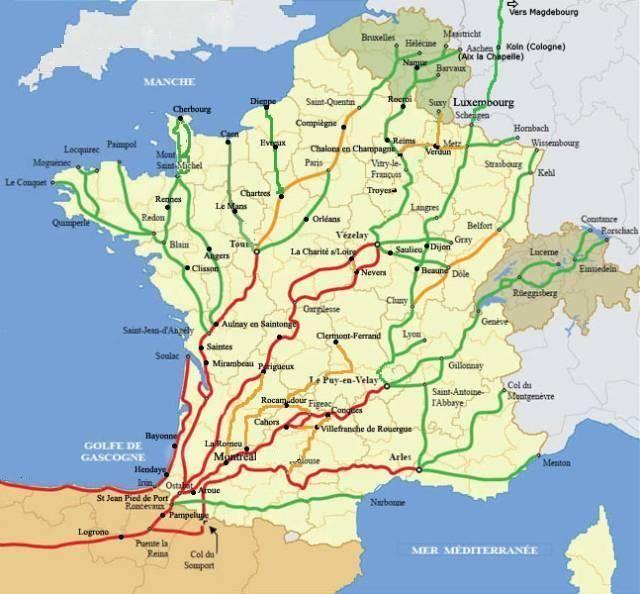 France Voies Compostelle Visite France Les Regions De France Saint Jacques De Compostelle