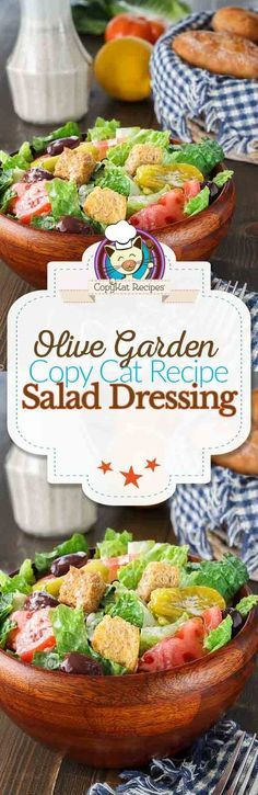 Make the Olive Garden Salad Dressing at home.  It is easy to do with this simple recipe.   This version has less preservatives than the store bought variety.