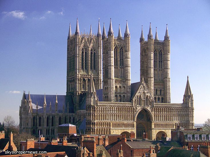 Lincoln Cathedral. I saw it from the train on the way back from Scotland, but one day I am going back.