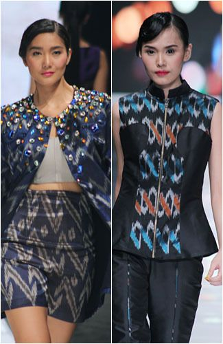 Stylish outfit with batik & tenun  - Jakarta Fashion Week 2013