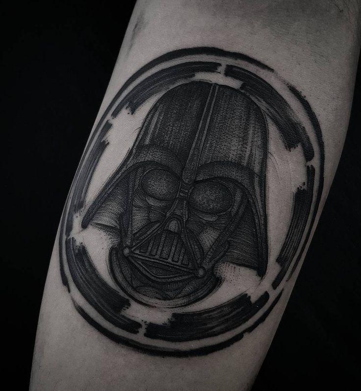 Darth Vader by Felipe Kross #tattoo #blackwork #illustration #darthvader instagram: fetattooer