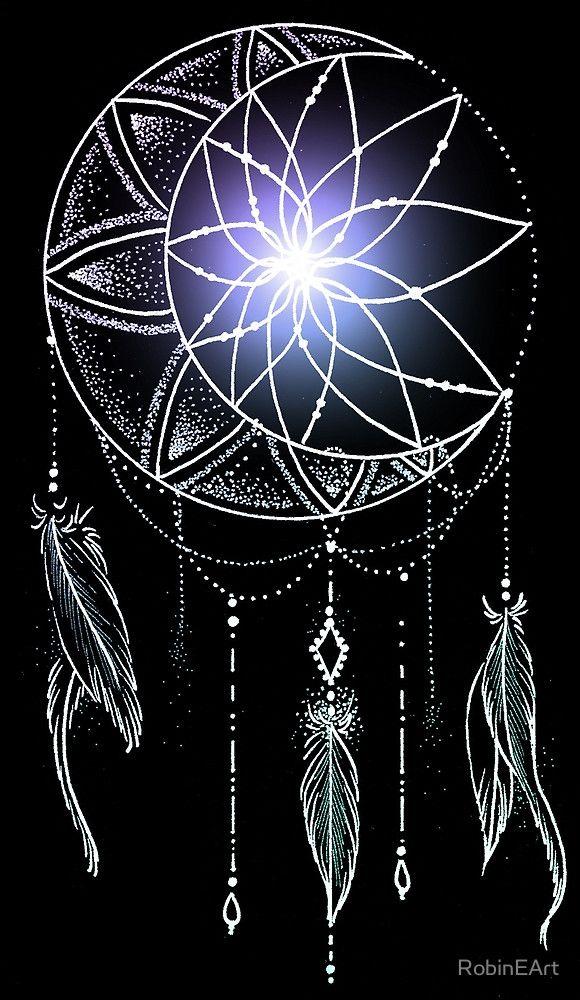 mooncatcher original mandala by robineart ms