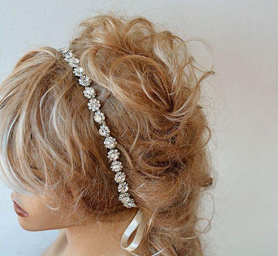 Wedding  Rhinestone Headband Bridal Rhinestone Headband by ADbrdal Pin it #EVERYONE SELLER PIN