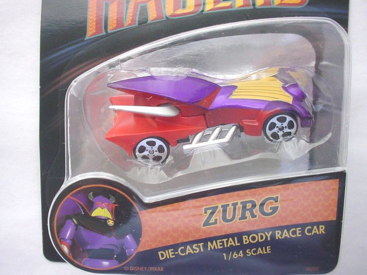 Disney Racer ZURG Die Cast Metal Body Race Car