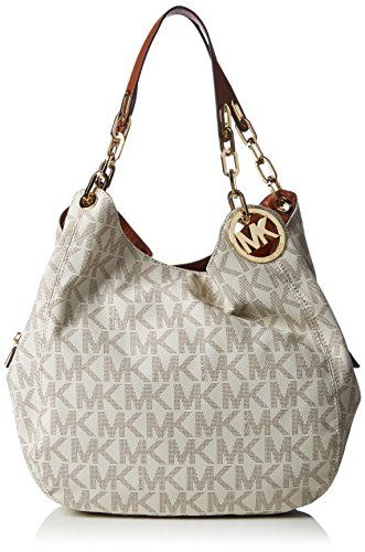 Michael Kors Fulton Large Shoulder Vanilla Tote * Details can be found by  clicking on the image.