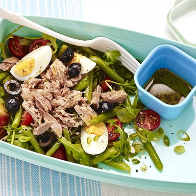 Sperziebonensalade met tonijn en ei