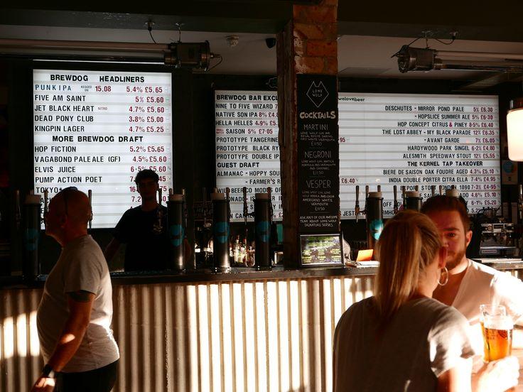 Brewdog menu board, London