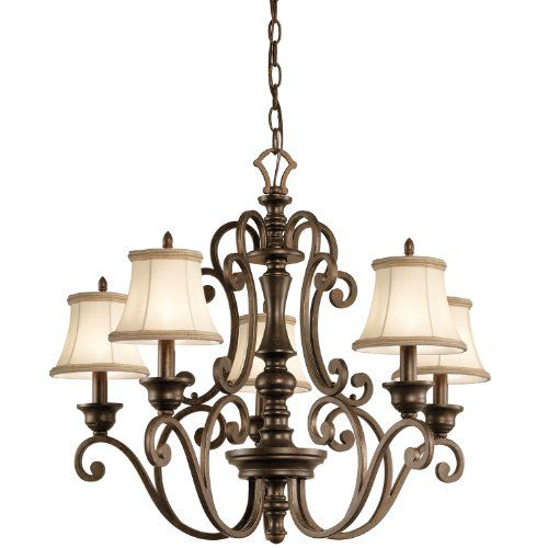 Kichler Lighting 43279TRZ Mithras 5 Light Chandelier, Terrene Bronze Finish Kichler Lighting http://www.amazon.com/dp/B00AJP3MLA/ref=cm_sw_r_pi_dp_DnYgvb1TE0MAF