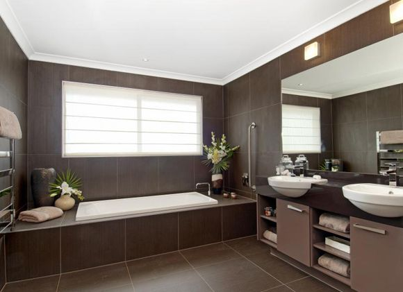 This Modern Bathroomdesign Features In The Acacia 1834
