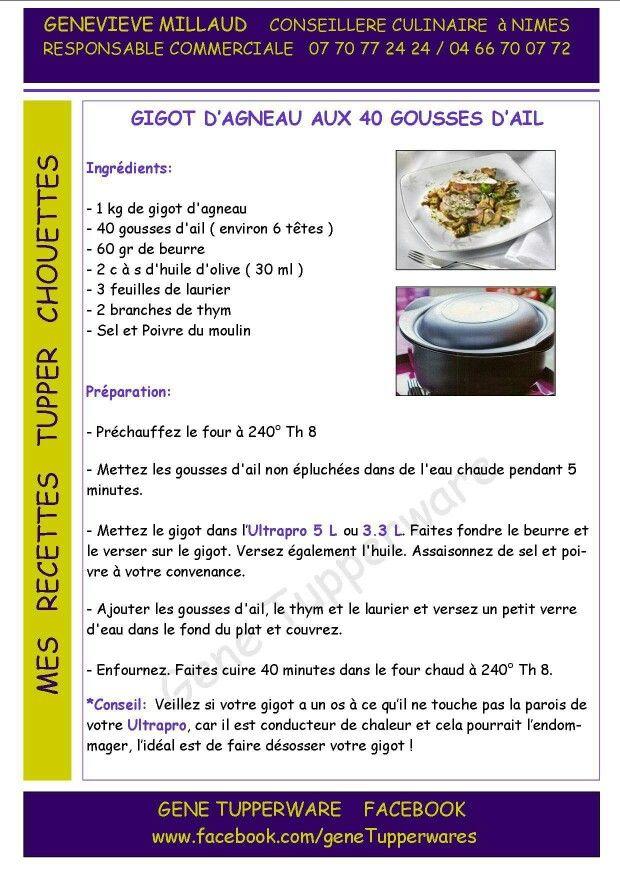 Tupperware - Gigot d'agneau aux 40 gousses d'ail