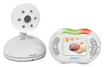 Product of the Day: The new Talk & Soothe Digital Video Monitor from The First Years has a color screen and two-way communication, so parents can see and soothe baby even when they're not in the nursery. The Monitor includes two-way communication and three preset lullabies and the 2.4-inch color screen, automatic night vision, sound sensitive lights and voice activated picture are an affordable luxury. Available exclusively at Target online and in stores, retail price is $99.99.