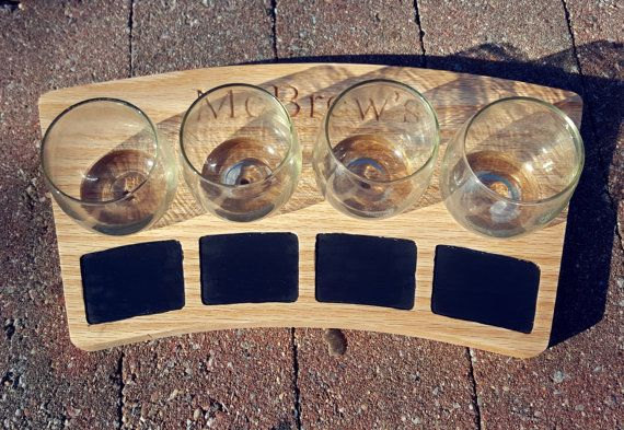 Beer Tasting Tray Beer Flight Tray Beer Lover by BandBwoodwork