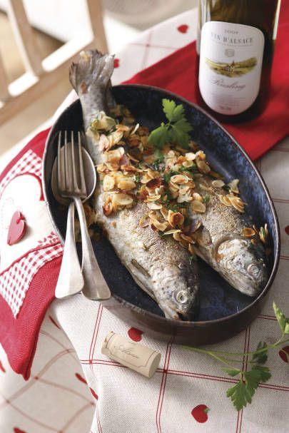 Truite aux amandes et Riesling d'Alsace - Photo VinsAlsace.com