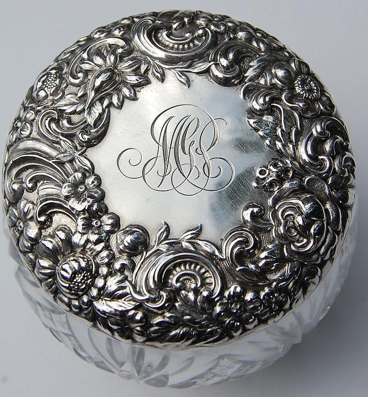 Best 111 Best Sterling Dresser Jars Powder Vanity Jar Images 400 x 300