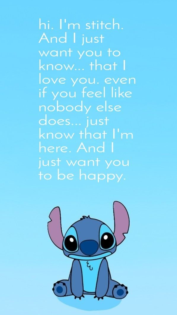 Be Happy Lilo And Stitch Quotes Lelo And Stitch Cute Disney Wallpaper