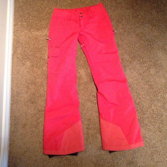 "Patagonia women's powder bowl ski pants!! Adorable pinkish-red color waterproof/breathable material. Inseam 32"" Patagonia Pants"