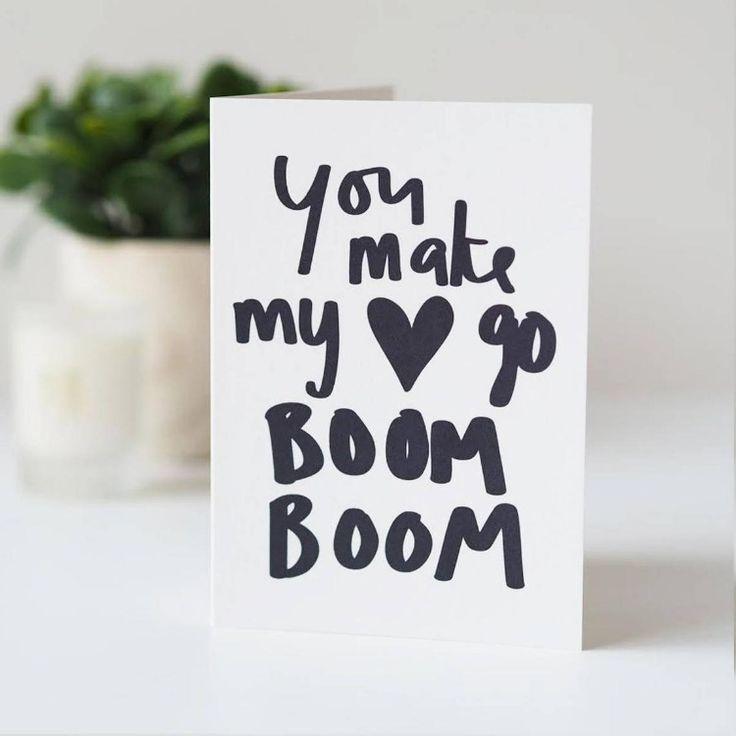 You Make My Heart Go Boom Boom Valentines Day Card ...You Make My Heart Go Boom Boom
