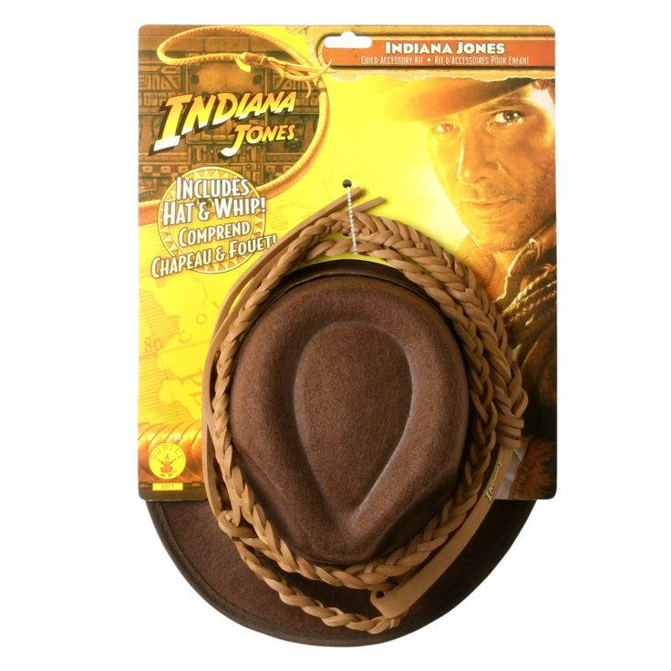 indianjones birthday party invitations%0A Indiana Jones  Hat and Whip Set Child u    s Costume Accessory