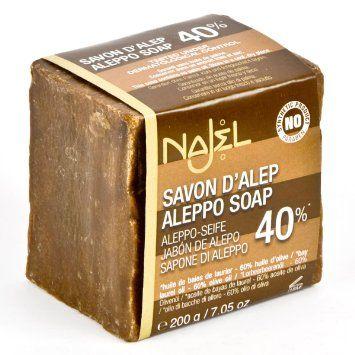 Najel Aleppo-Seife 40% Lorbeeröl, 200 g: Amazon.de: Parfümerie & Kosmetik